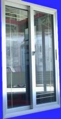 Imagen de Cerramiento en aluminio Anodizado Natural en Ventanas Corredizas