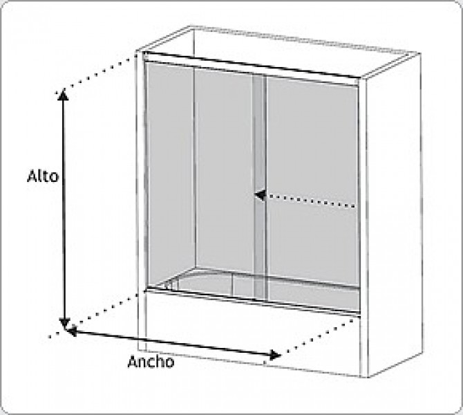 Arquitectura aluminio mamparas tipolog a de mamparas for Mamparas bd