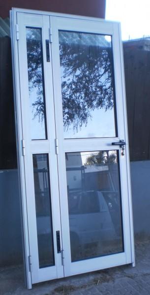 Arquitectura aluminio puertas puerta doble batiente - Puertas de aluminio doble hoja ...