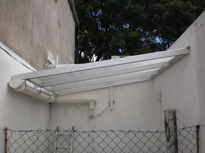 Arquitectura aluminio techos alero en policarbonato Fotos de techos para patios