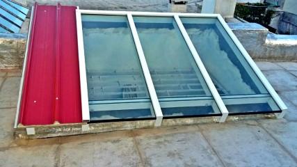 Imagen de Claraboya mixta vidrio dvh más panel autoportante en Montevideo