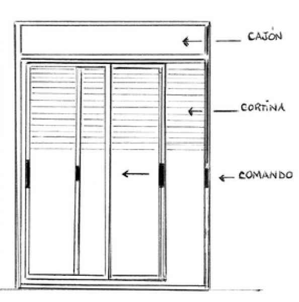 Arquitectura aluminio aberturas integrada o monoblock for Perfiles pvc para aberturas