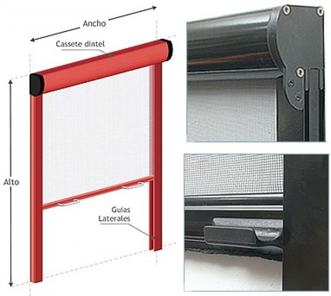 Arquitectura aluminio mosquiteros enrollables en for Mosquiteros de aluminio
