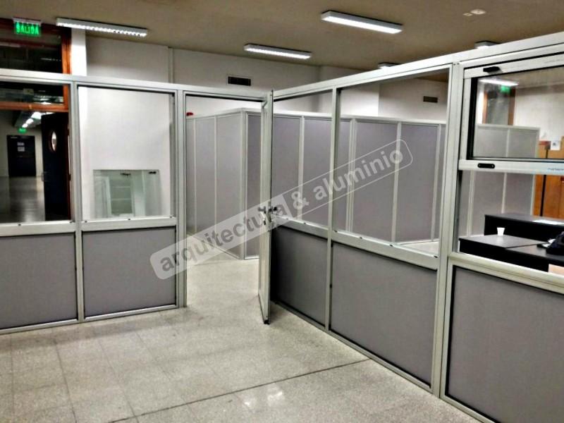 Arquitectura aluminio obras tabiques divisores de for Tabiques divisorios para oficinas