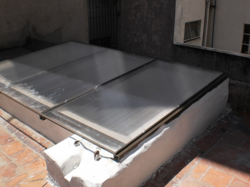 Arquitectura aluminio claraboyas claraboya en - Techo transparente policarbonato ...