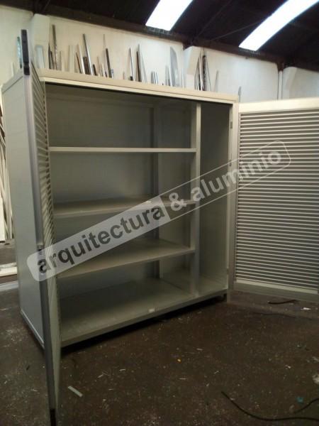 Arquitectura aluminio obras mueble baulera para estacionamiento garaje - Muebles para garaje ...